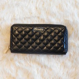 Beautiful Black Quilted Faux Leather Wallet